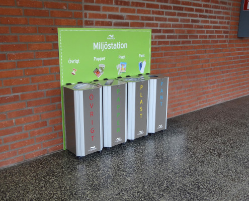 Kiwi recycling system for indoor use